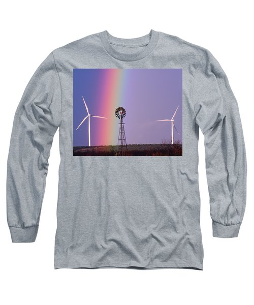 Windmill Promises Old And New Long Sleeve T-Shirt by Alycia Christine