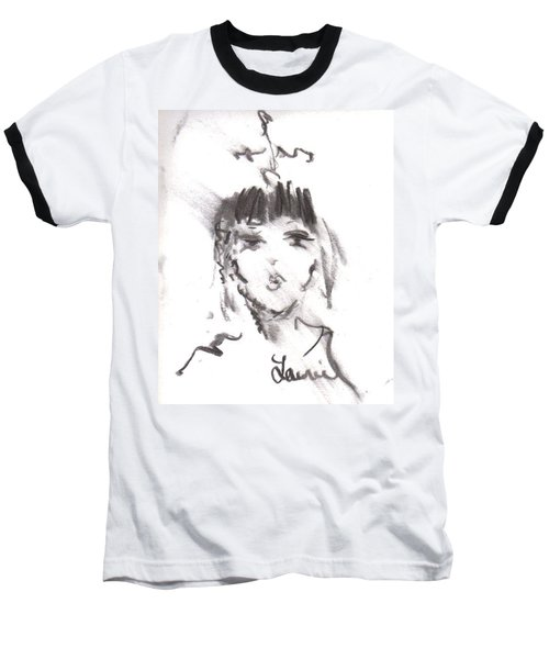 Baseball T-Shirt featuring the drawing Queen Of Kisses by Laurie L