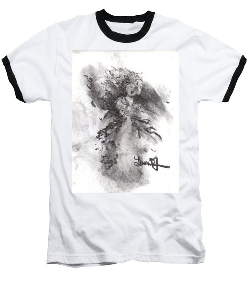 Baseball T-Shirt featuring the drawing Rapture Of Peace by Laurie L