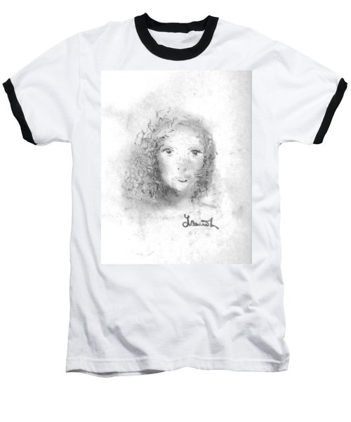 Baseball T-Shirt featuring the drawing Something About Mary by Laurie L