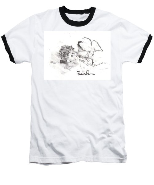 Baseball T-Shirt featuring the drawing Timeless Love by Laurie L