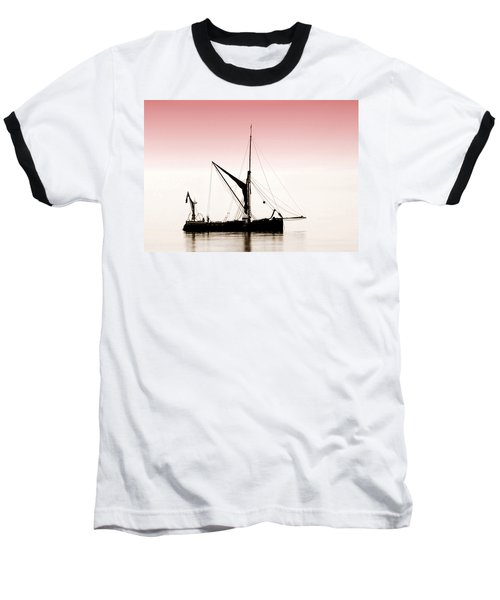 Coble Sailing  Against Pint Sky Baseball T-Shirt