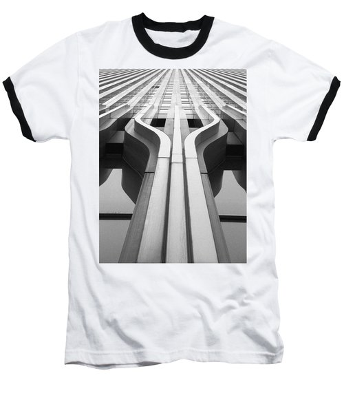Look Up A Twin Tower Baseball T-Shirt by Darcy Michaelchuk