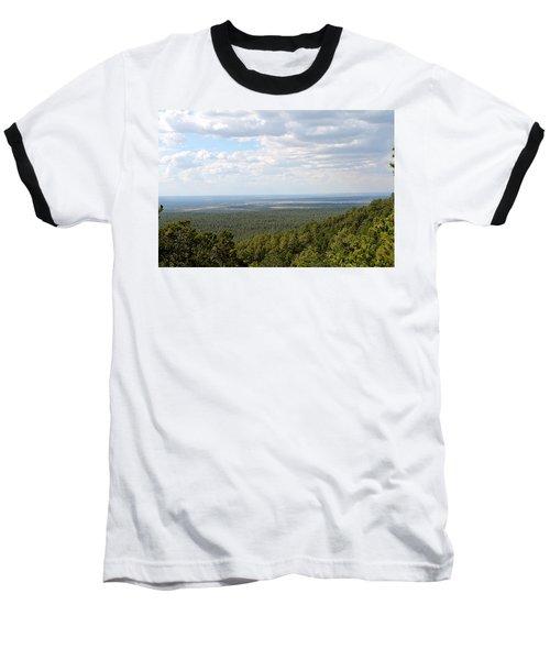 Overlooking Pinetop Baseball T-Shirt by Pamela Walrath