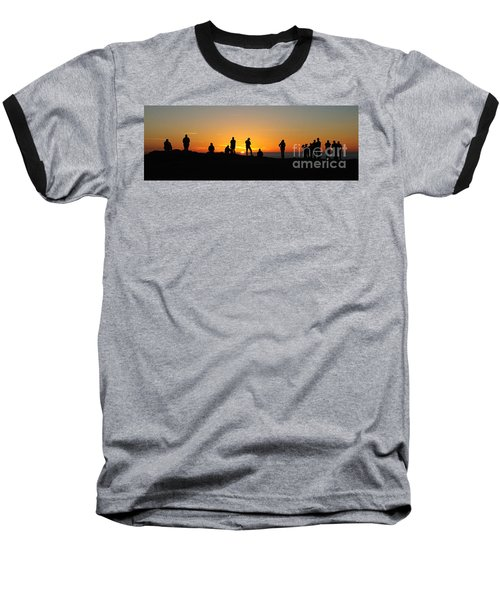 Panorama Everyone Likes A Sunset Baseball T-Shirt by Vivian Christopher