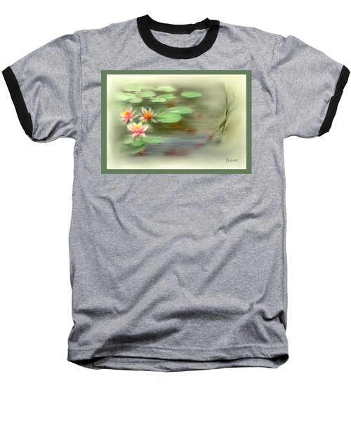 Baseball T-Shirt featuring the painting  Gold Fish Pond by Bonnie Willis