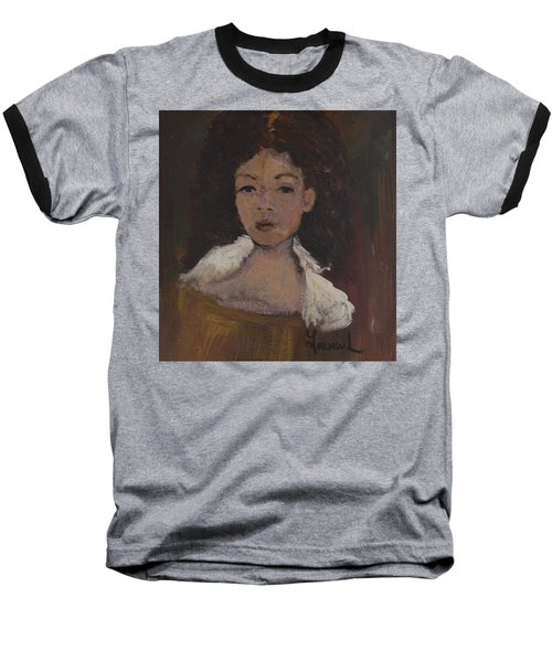 Baseball T-Shirt featuring the painting Autumn Walking by Laurie L