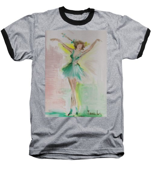 Baseball T-Shirt featuring the painting Dance by Laurie L