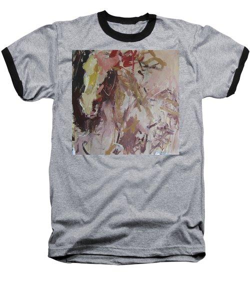 Abstract Horse  Baseball T-Shirt by Robert Joyner