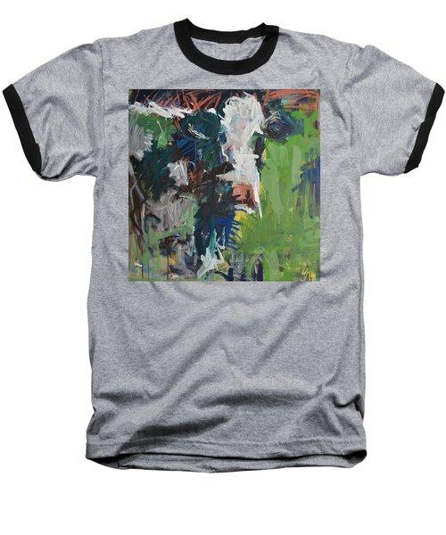 Cow Painting Baseball T-Shirt by Robert Joyner