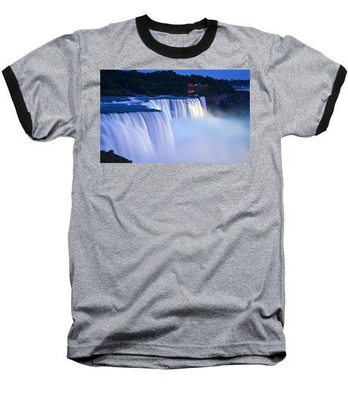 American Falls Niagara Falls Baseball T-Shirt by Loriannah Hespe