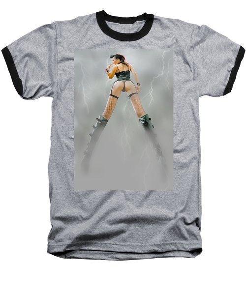 Baseball T-Shirt featuring the painting Asia by Tbone Oliver