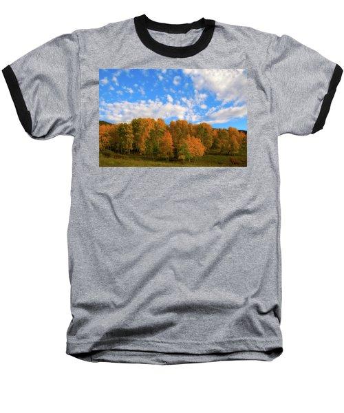 Baseball T-Shirt featuring the photograph Aspens by Steve Stuller