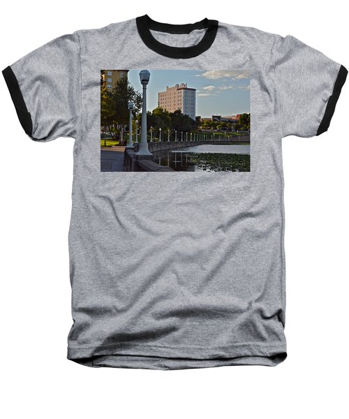 Beautiful Downtown Lakeland Baseball T-Shirt by Carol  Bradley