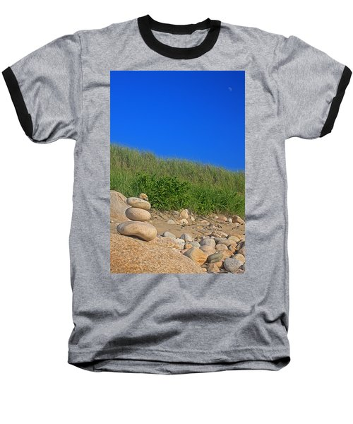 Cairn Dunes And Moon Baseball T-Shirt