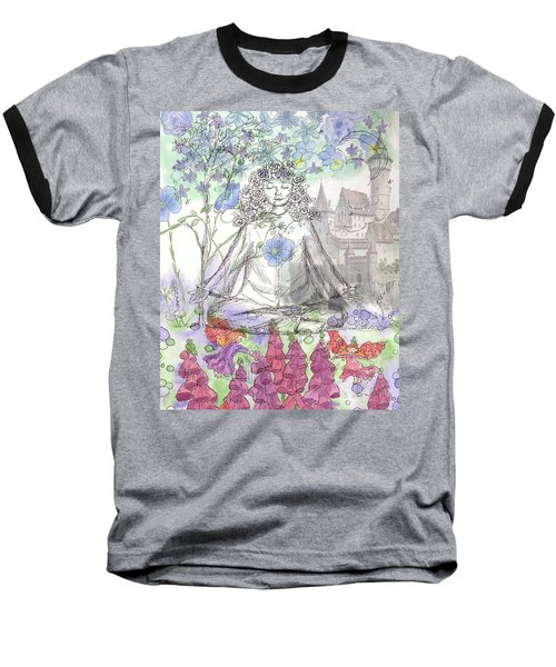 Baseball T-Shirt featuring the painting Celestial Castle by Cathie Richardson