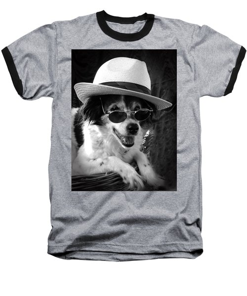 Cool Dog  Baseball T-Shirt