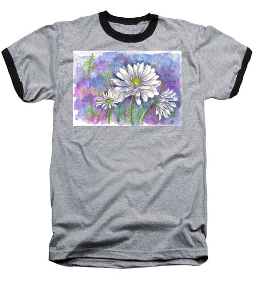 Baseball T-Shirt featuring the painting Daisy Three by Cathie Richardson