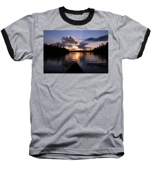 Evening Paddle On Spoon Lake Baseball T-Shirt by Larry Ricker