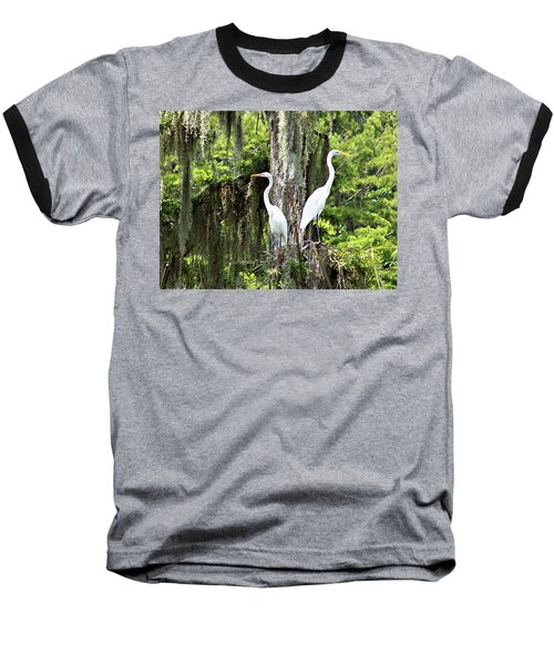 Great White Egrets Baseball T-Shirt