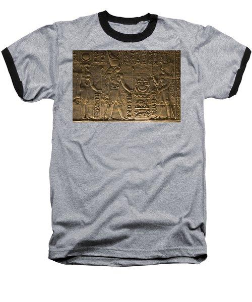Hieroglyph At Edfu Baseball T-Shirt by Darcy Michaelchuk