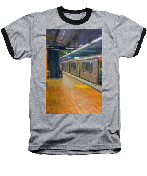 Baseball T-Shirt featuring the photograph Hollywood Subway Station by David Zanzinger