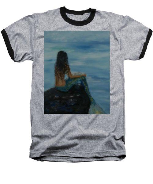 Mermaid Mist Baseball T-Shirt by Leslie Allen