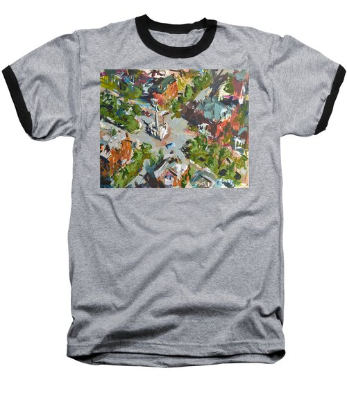 Monument Avenue In Richmond Virginia Baseball T-Shirt by Robert Joyner