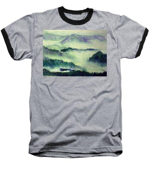 Baseball T-Shirt featuring the painting Mountain Oriental Style by Yoshiko Mishina