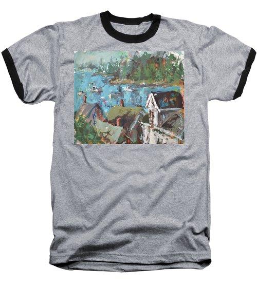 Original Modern Abstract Maine Landscape Painting Baseball T-Shirt by Robert Joyner