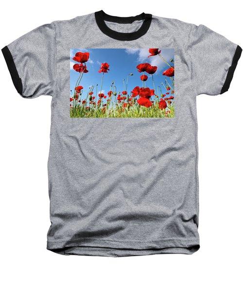 Poppies Season Baseball T-Shirt