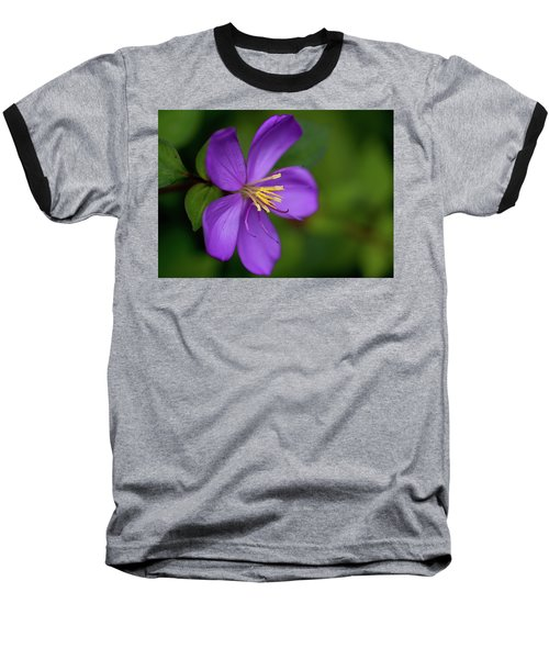 Purple Flower Macro Baseball T-Shirt