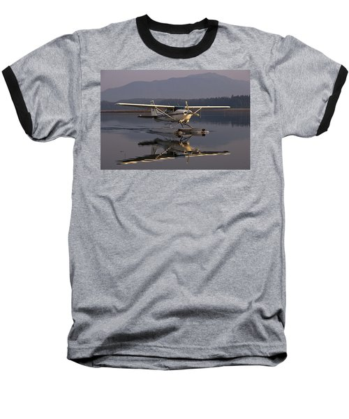 Reflections Of A Float Plane Baseball T-Shirt by Darcy Michaelchuk