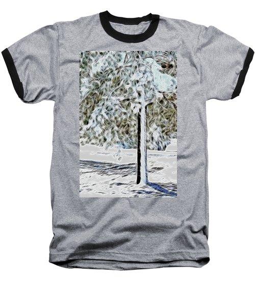 Snowy Tree Baseball T-Shirt