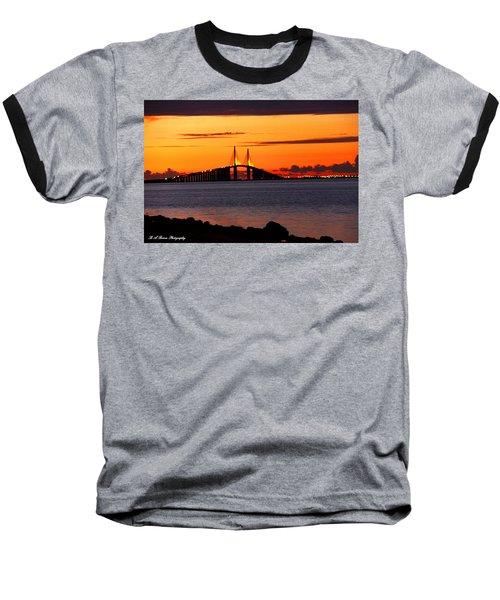 Sunset Over The Skyway Bridge Baseball T-Shirt