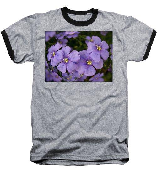 Vinca Under Glass Baseball T-Shirt by Sue Stefanowicz