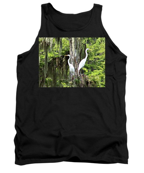 Great White Egrets Tank Top