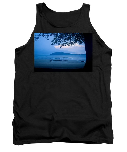 Strolling Surfer Tank Top by Todd Breitling
