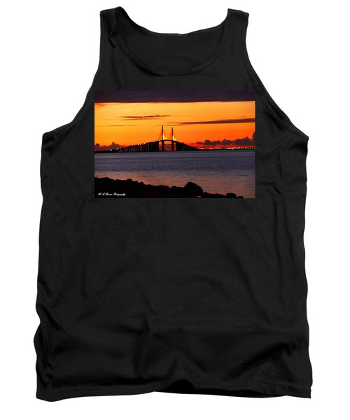 Sunset Over The Skyway Bridge Tank Top