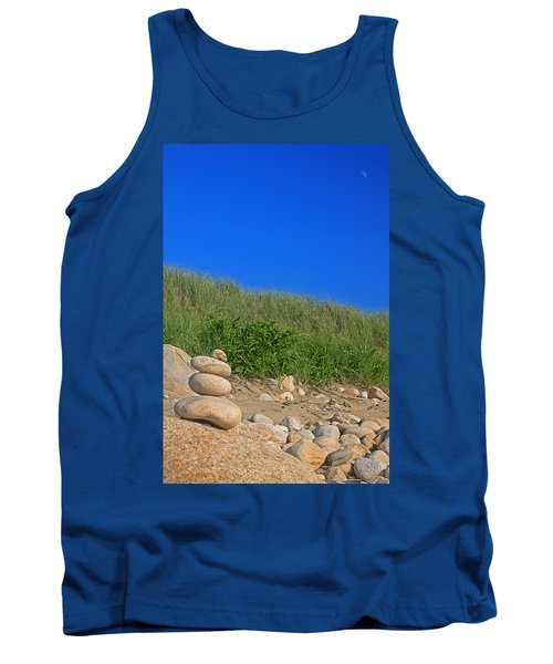 Cairn Dunes And Moon Tank Top by Todd Breitling