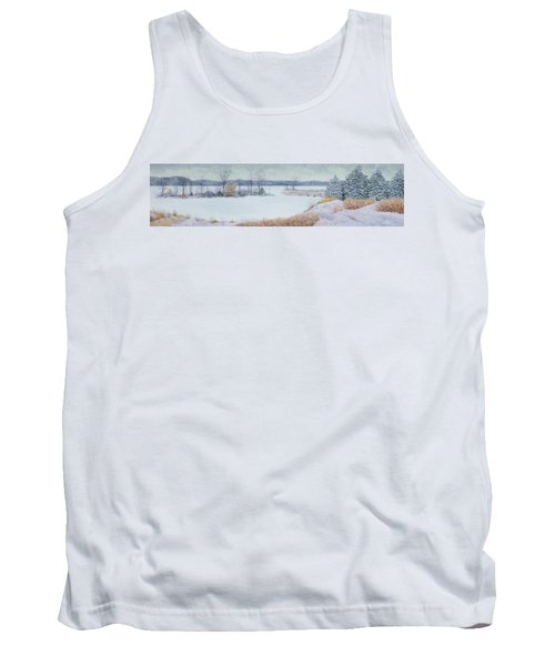 Winter Lake And Cedars Tank Top by Garry McMichael