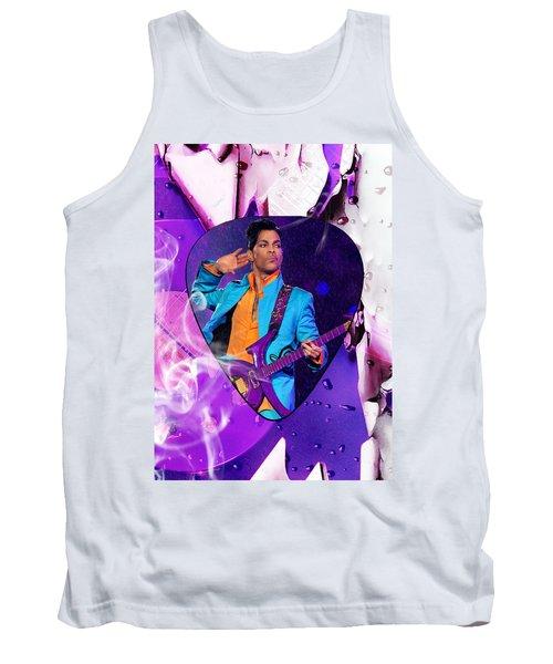 Prince Purple Rain Art Tank Top by Marvin Blaine