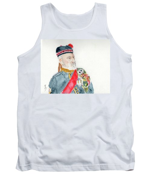 Tank Top featuring the painting A Scottish Soldier by Yoshiko Mishina