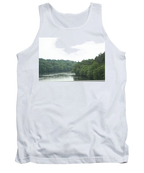 Mighty Merrimack River Tank Top by Barbara S Nickerson