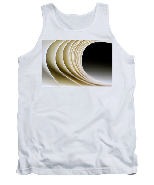 Tank Top featuring the photograph Paper Curl by Pedro Cardona