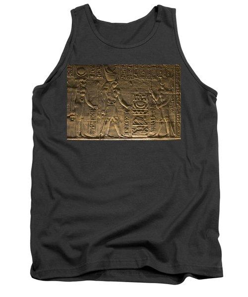 Hieroglyph At Edfu Tank Top by Darcy Michaelchuk