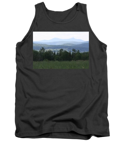 Jay Peak From Irasburg Tank Top by Donna Walsh