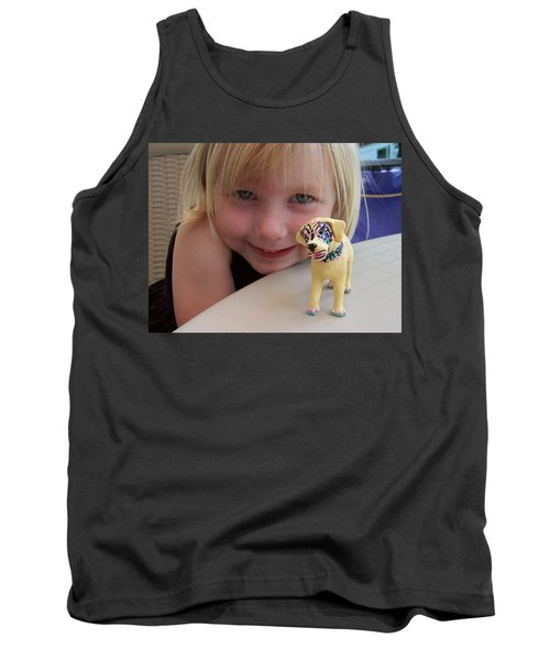 Lacey's Face Painted Dog Tank Top