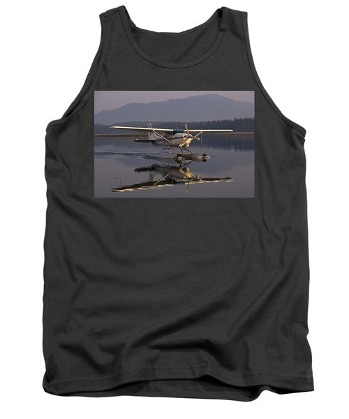 Reflections Of A Float Plane Tank Top by Darcy Michaelchuk