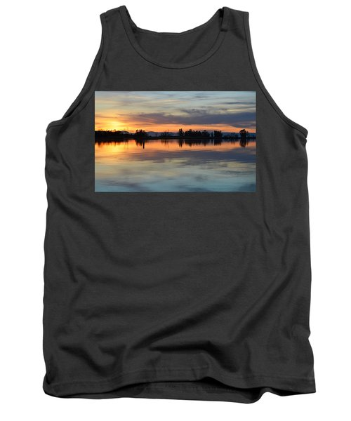 Tank Top featuring the photograph Sunset Reflections by AJ Schibig